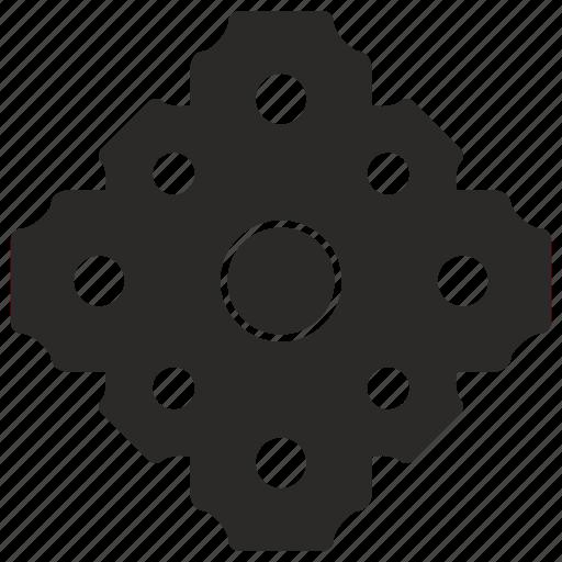 cog, cogwheel, complex, engine, gear, part icon