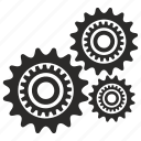 cog, cogwheel, engine, mechanism, part icon