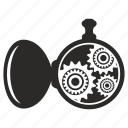 clocks, cog, cogwheel, gear, hand icon