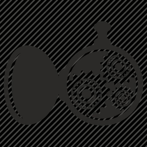 clocks, cog, cogwheel, gear, hand icon