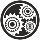 cog, cogwheel, engine, gear, round icon