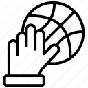 ball, basketball, basketball game, basketball goal, sports ball icon