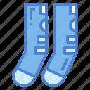clothes, clothing, feet, socks