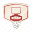 basket, basketball, equipment, game, shield, sport icon