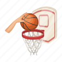 basketball, shield, hand, game, ball, basket, throw