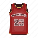 basketball, dinner, number, player, sport, t-shirt, uniform icon
