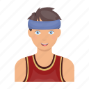 bandage, basketball, man, person, player, sport, uniform