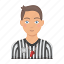 basketball, man, person, referee, uniform
