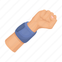 bandage, basketball, fist, gesture, hand icon