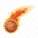ball, basketball, burning, sport, track icon