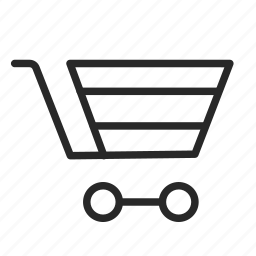 online shop, packaging, products, shopping, shopping cart, transport icon
