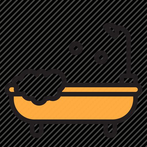 Bath, shower, water, bathroom, cleaning icon