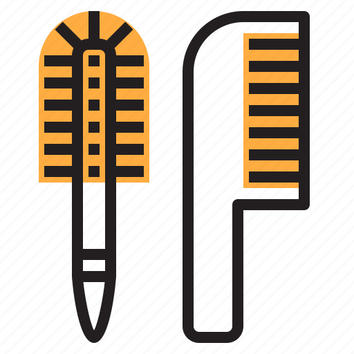bathroom, brush, cleaning, combs, shower icon