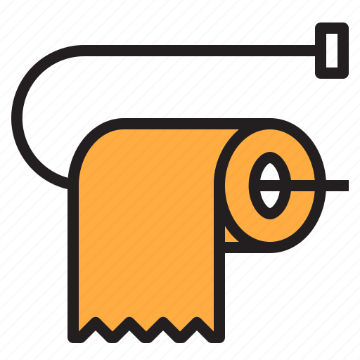 bathroom, cleaning, papers, shower, toilet icon