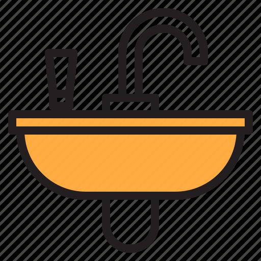 Wash, basin, shower, bathroom, cleaning icon
