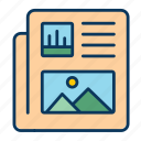document, news, newspaper, papper, report icon, sheet icon icon