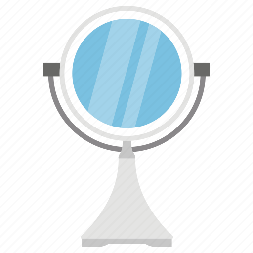image reflector, looking glass, mirror, polished metal, seeing glass icon