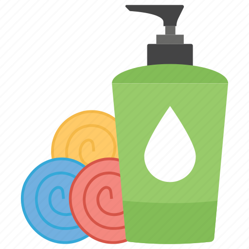 bath accessories, body products, grooming products, toiletries, washroom amenities icon