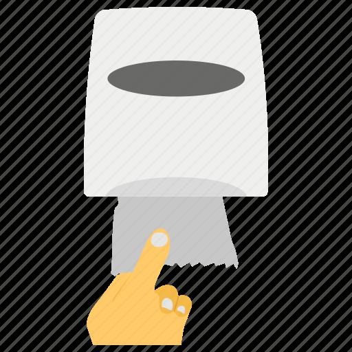 hanging tissue paper, paper holder, tissue rack, tissue rail, tissue stand, washroom accessories icon