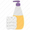bathroom accessories, cleaning equipment, hand wash soap, hygiene, soap and cleaning icon