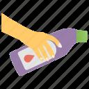 bathroom accessories, cleanser, hand holding detergent, household, hygiene, solvent, toilet detergent icon