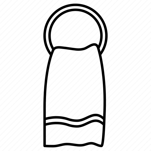 cloth, hand, hanger, towel icon