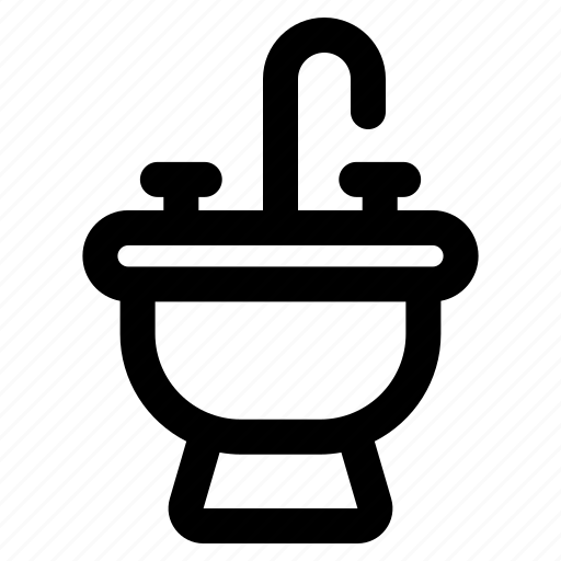 Bathroom, sink, tap, faucet, water icon - Download on Iconfinder