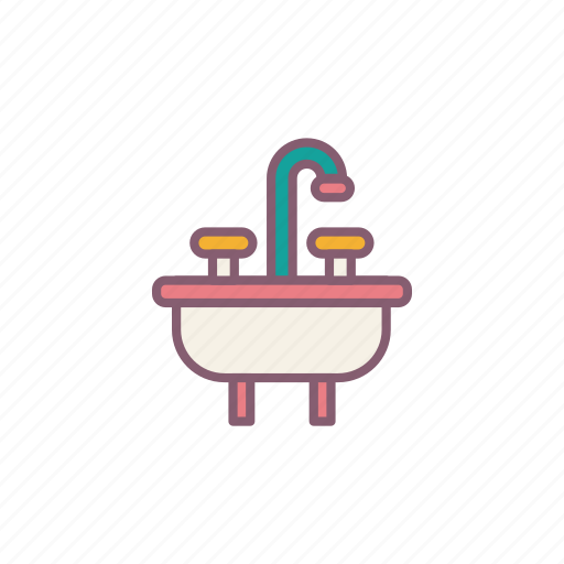 bathroom, water icon