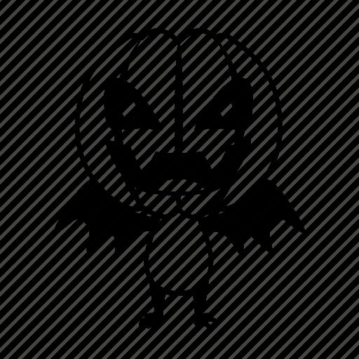 bat, character, halloween, head, monster, pumpkin icon