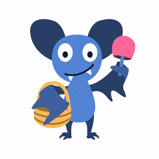 basket, bat, candy, character, halloween, happy, show icon