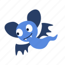 bat, cartoon, character, fly, fun, ghost, happy icon