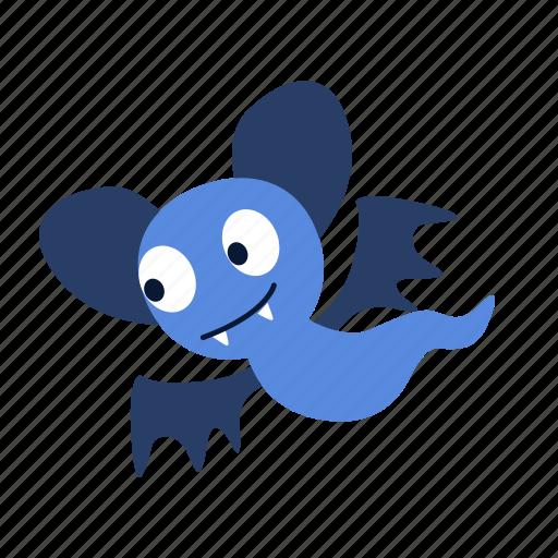 bat, cartoon, character, fly, fun, ghost, happy icon