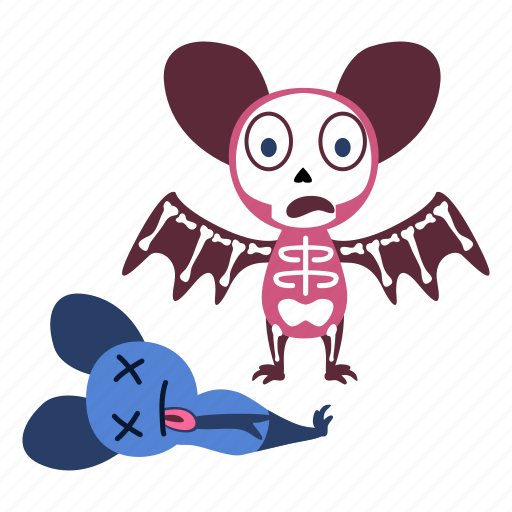 cartoon, character, dead, fear, monster, scared, skeleton icon