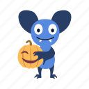 bat, cartoon, character, halloween, jack-o'-lantern, pumpkin, smile