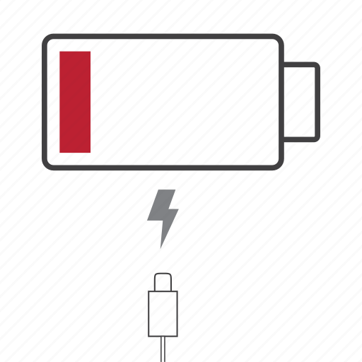 battery, charge, device, empty, phone icon