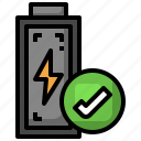 battery, tick, electronics, check, technology