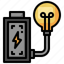 lightbulb, electronics, battery, charge, electricity
