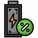 percent, level, battery, charge, power