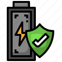 protected, electronics, secure, battery, shield