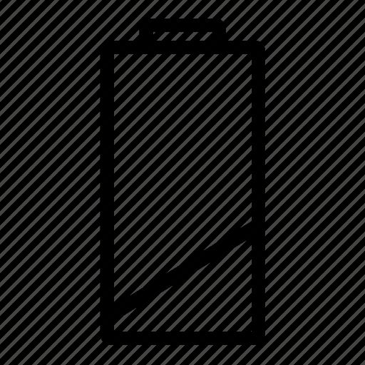 aa, battery, battery dead, battery low icon