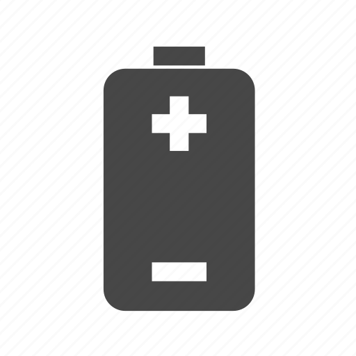 battery, cell, half icon