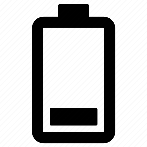 battery, low, power icon