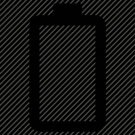 battery, empty, power icon