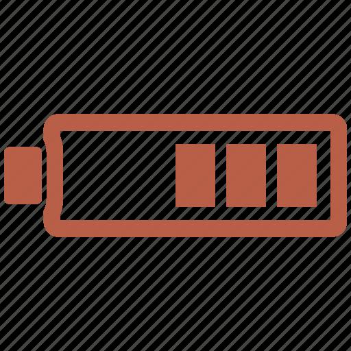 battery, charg, half icon