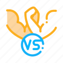 championship, battle, arm, champion, wrestling, linear, concept icon