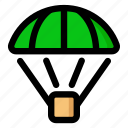 air drop, crate, drop, fortnite, pubg, supply icon