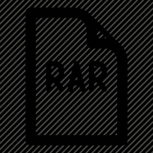 extension, file, format, rar, type icon