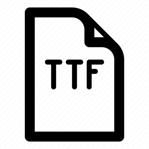 extension, file, format, ttf, type icon