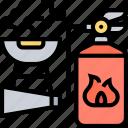 fire, extinguisher, firefighter, safety, spray