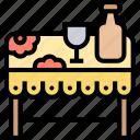 tablecloth, table, kitchen, dinner, restaurant